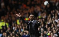 Técnico do Manchester City, Pep Guadiola, durante partida da Liga Europa.   28/09/2016 Action Images via Reuters / Lee Smith Livepic