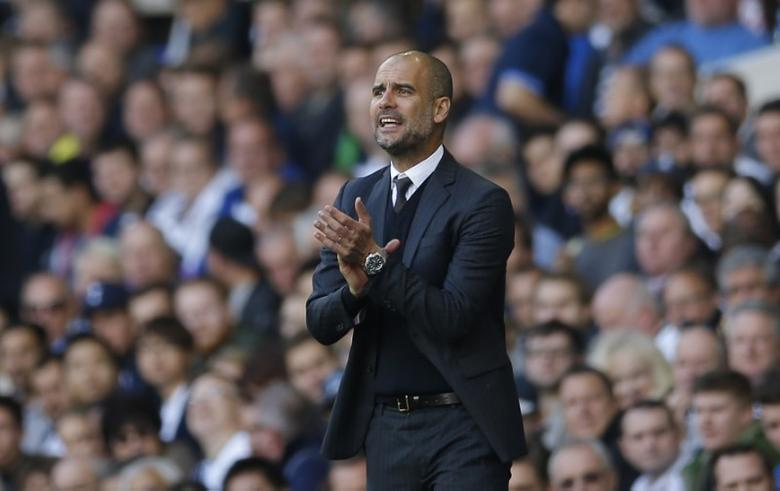 Britain Soccer Football - Tottenham Hotspur v Manchester City - Premier League - White Hart Lane - 2/10/16Manchester City manager Pep Guardiola Action Images via Reuters / Andrew CouldridgeLivepicEDITORIAL USE ONLY.