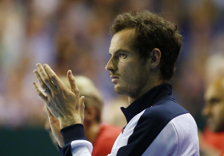 Tennis Britain - Great Britain v Argentina - Davis Cup Semi Final - Emirates Arena, Glasgow, Scotland - 18/9/16Great Britain's Andy Murray applauds during Dan Evans' match against Argentina's Leonardo Mayer Action Images via Reuters / Andrew BoyersLivepic