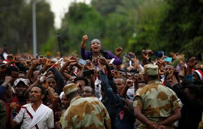Stampede during protests in Ethiopia