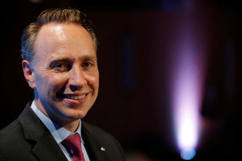 Thomas Buberl poses during a news conference about strategic plan at the company headquarters in Paris, France, June 21, 2016. REUTERS/Stephane Mahe