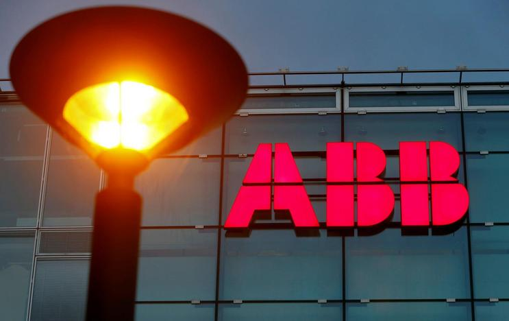 The logo of Swiss engineering group ABB is seen at a plant in Zurich, Switzerland October 4, 2016. Arnd Wiegmann