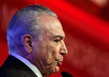 Temer durante evento em São Paulo  30/9/2016 REUTERS/Paulo Whitaker