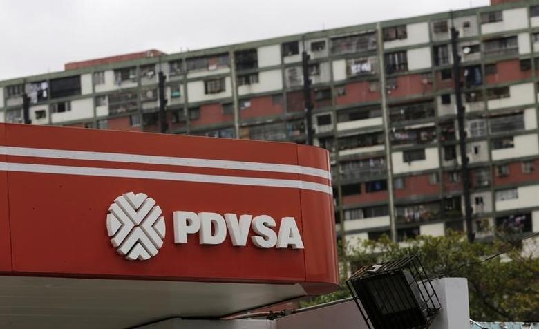 The logo of the Venezuelan state oil company PDVSA is seen at a gas station in Caracas, Venezuela, September 14, 2016. REUTERS/Henry Romero/File Photo