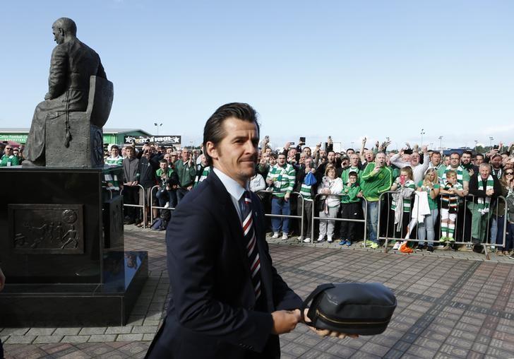 Football - Celtic v Rangers - Scottish Premiership - Celtic Park - 10/9/16Rangers' Joey Barton arrives before the gameMandatory Credit: Action Images / Russell Cheyne
