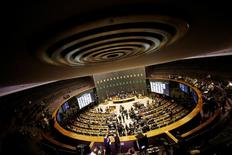 Vista geral do plenário da Câmara dos Deputados, no Congresso Nacional, em Brasília 13/07/2016 REUTERS/Ueslei Marcelino