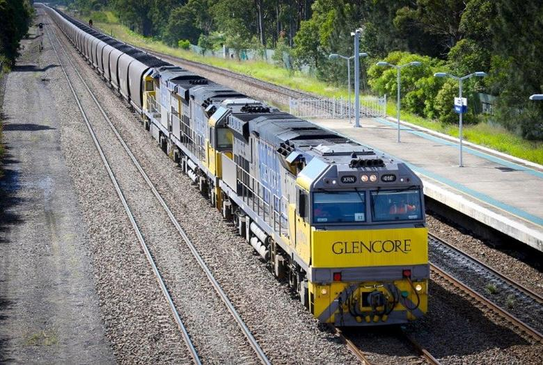 A Glencore coal train can be seen in this undated handout picture released to Reuters on March 17, 2016. REUTERS/Glencore/Handout via Reuters