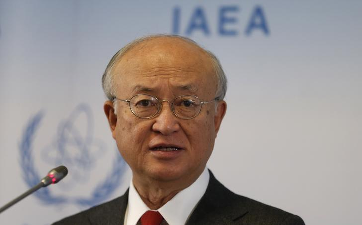 International Atomic Energy Agency (IAEA) Director General Yukiya Amano addresses a news conference after a board of governors meeting at the IAEA headquarters in Vienna, Austria, March 7, 2016. REUTERS/Heinz-Peter Bader