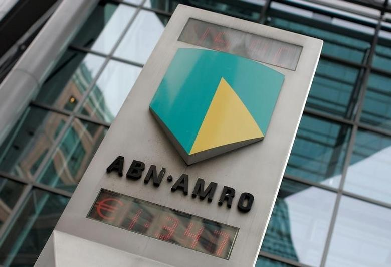 The ABN Amro logo is seen in central London, Britain May 29, 2007. REUTERS/Stephen Hird/File Photo