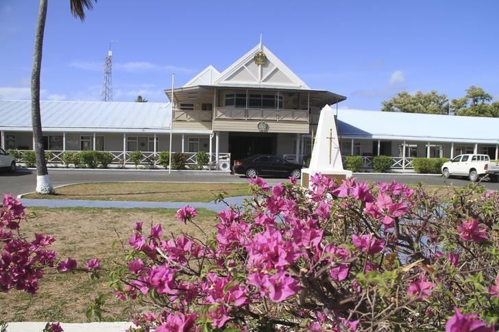 An exterior view of the government offices of the small island nation of Nauru is pictured, February 10, 2012. REUTERS/Rod Henshaw/File Photo