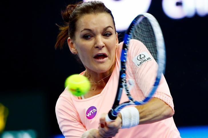 Tennis - China Open Women's Singles final - Beijing, China - 09/10/16 - Poland's Agnieszka Radwanska plays against Britain's Johanna Konta.  REUTERS/Thomas Peter