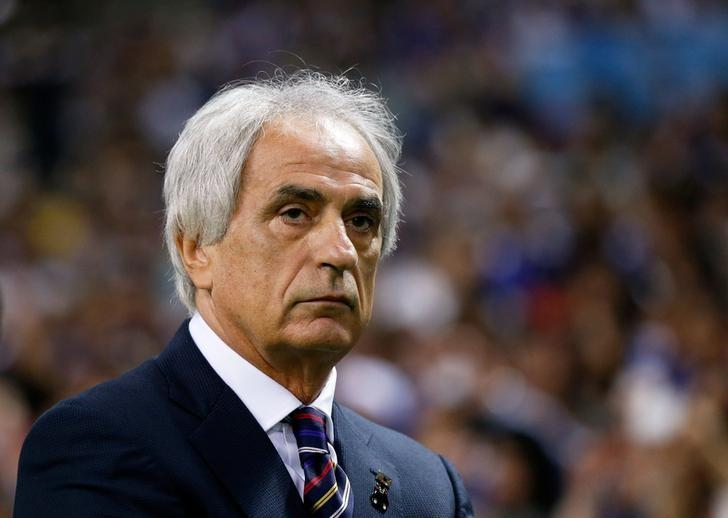 Football Soccer - Japan v Iraq - World Cup 2018 Qualifier - Saitama Stadium 2002, Saitama, Japan - 6/10/16. Japan's head coach Vahid Halilhodzic is seen before match.   REUTERS/Issei Kato
