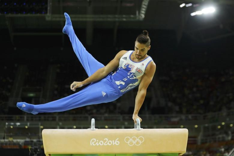 2016 Rio Olympics - Artistic Gymnastics - Final - Men's Pommel Horse Final - Rio Olympic Arena - Rio de Janeiro, Brazil - 14/08/2016. Louis Smith (GBR) of Britain competes. REUTERS/Mike Blake