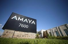 The logo of gaming company Amaya Inc is seen at its head office in Montreal June 22, 2015. REUTERS/Christinne Muschi/File photo