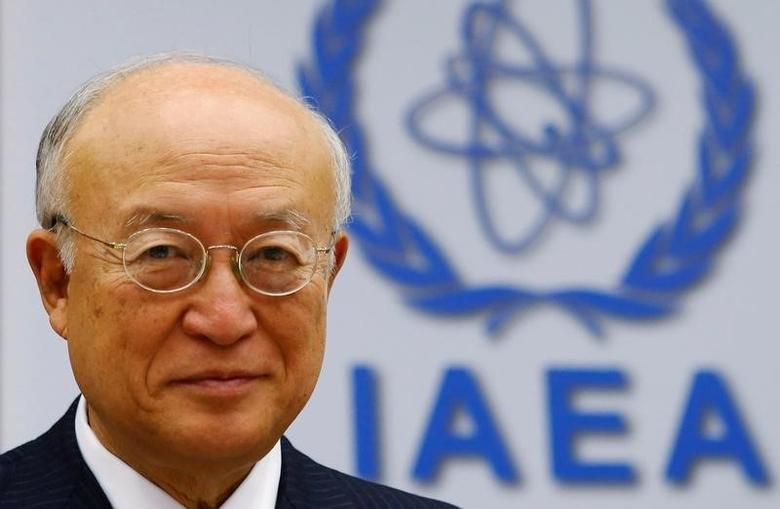 International Atomic Energy Agency (IAEA) Director General Yukiya Amano smiles as he waits for a board of governors meeting to begin at the IAEA headquarters in Vienna, Austria June 6, 2016. Heinz-Peter Bader