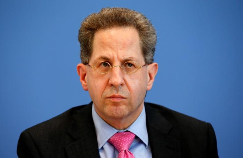 Hans-Georg Maassen, Germany's head of the German Federal Office for the Protection of the Constitution (Bundesamt fuer Verfassungsschutz) addresses a news conference to introduce the agency's 2015 report on threats to the constitution in Berlin, Germany, June 28, 2016. REUTERS/Fabrizio Bensch -