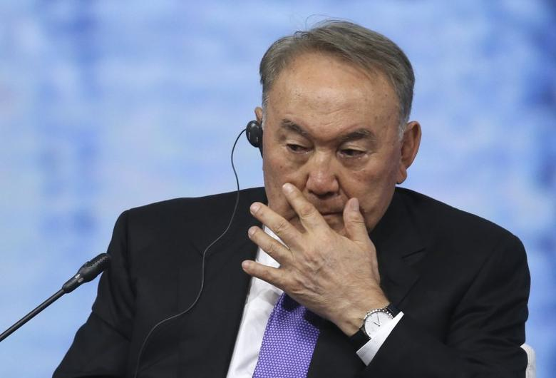 Kazakh President Nursultan Nazarbayev attends a session of the St. Petersburg International Economic Forum 2016 (SPIEF 2016) in St. Petersburg, Russia, June 17, 2016.  REUTERS/Artyom Korotayev/TASS/Host Photo Agency/Pool