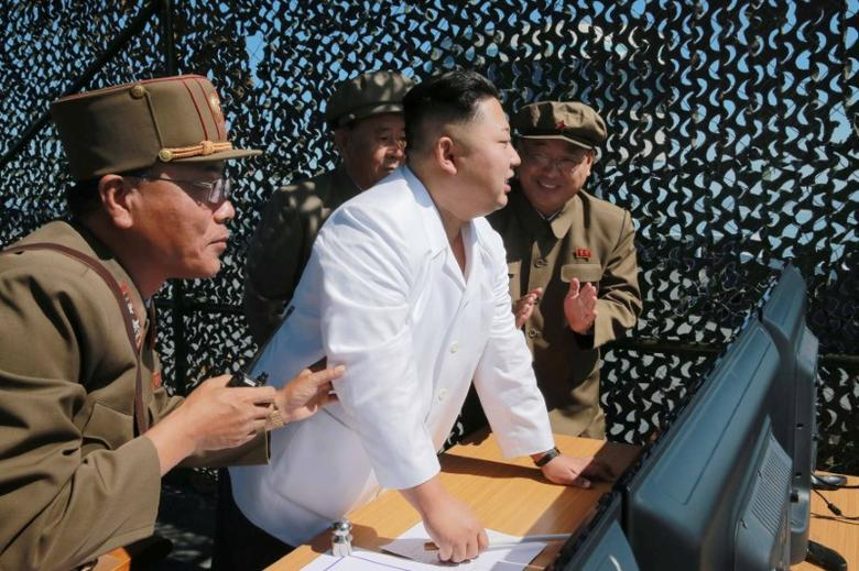 North Korean leader Kim Jung Un supervises a demonstration of a new rocket engine for the geo-stationary satellite at the Sohae Space Center n this undated photo released by North Korea's Korean Central News Agency (KCNA) in Pyongyang September 20, 2016.      KCNA via REUTERS