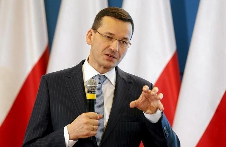 Deputy Prime Minister Mateusz Morawiecki speaks during news conference at the Prime Minister Chancellery in Warsaw, Poland February 16, 2016. REUTERS/Kuba Atys/Agencja Gazeta