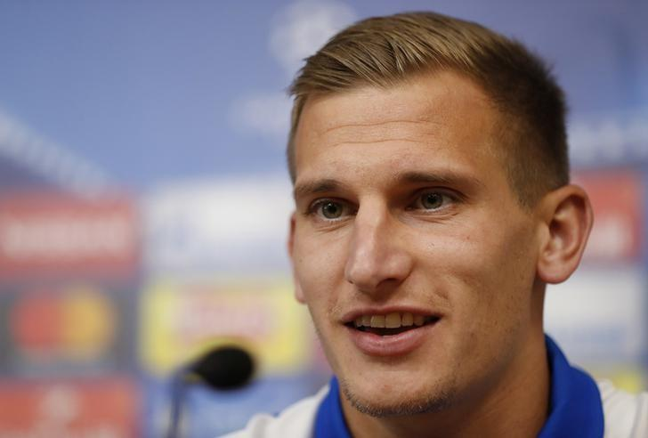 Britain Football Soccer - Leicester City Press Conference - King Power Stadium, Leicester, England - 26/9/16Leicester City's Marc Albrighton during the press conferenceAction Images via Reuters / Carl RecineLivepic