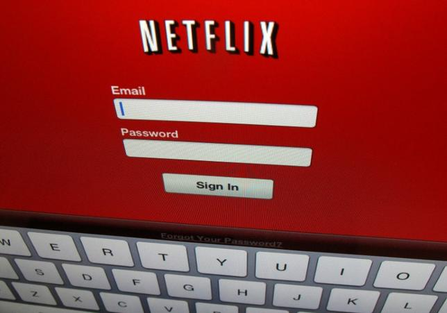 The Netflix sign on is shown on an iPad in Encinitas, California, April 19, 2013. REUTERS/Mike Blake/File Photo