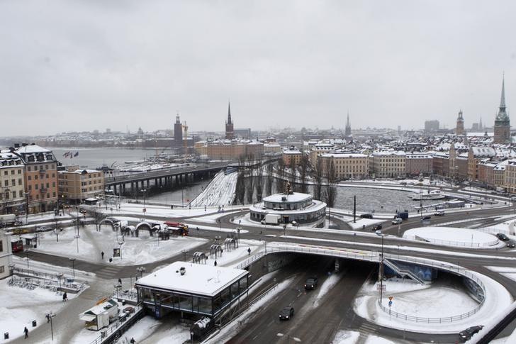 A general view shows Stockholm January 17, 2013.  REUTERS/Ints Kalnins