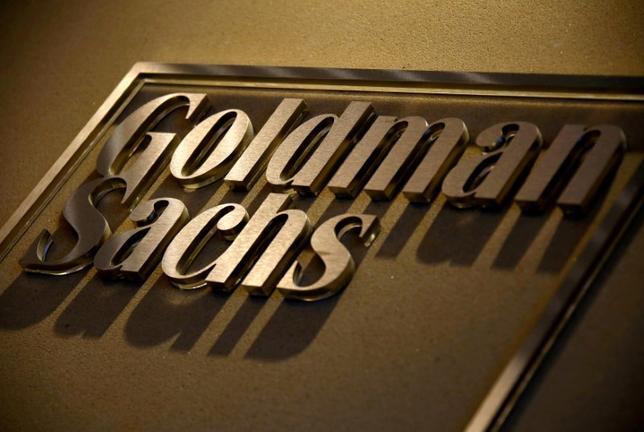 10月18日、米ゴールドマン・サックスが発表した第3・四半期決算は57.9%の増益となった。写真は同社ロゴ、豪シドニーで5月18日撮影。(2016年 ロイター/David Gray)