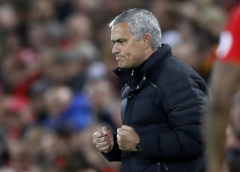 Britain Football Soccer - Liverpool v Manchester United - Premier League - Anfield - 17/10/16Manchester United manager Jose Mourinho Action Images via Reuters / Carl Recine
