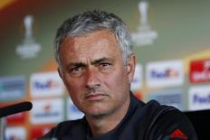 Britain Football Soccer - Manchester United Press Conference - Old Trafford, Manchester, England - 19/10/16 Manchester United manager Jose Mourinho during the press conference Action Images via Reuters / Jason Cairnduff Livepic