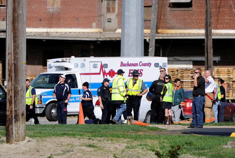 More than 100 treated after chemical accident in