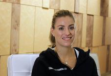 World number one tennis player Angelique Kerber of Germany poses during an interview in Singapore October 20, 2016. REUTERS/Patrick Johnston