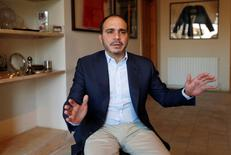 Jordan's Prince Ali Bin Al Hussein, president of the Jordanian Football Association, speaks during his interview with Reuters in Amman, Jordan, October 23, 2016. Picture taken October 23, 2016. To match Interview SOCCER-FIFA/PRINCE ALI    REUTERS/Muhammad Hamed
