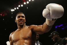 Britain Boxing - Anthony Joshua v Dominic Breazeale IBF World Heavyweight Title - The O2 Arena, London - 25/6/16 Anthony Joshua celebrates his win Action Images via Reuters / Andrew Couldridge Livepic