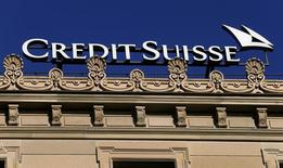 The logo of Swiss bank Credit Suisse is seen at its headquarters at the Paradeplatz in Zurich, Switzerland November 3, 2016.  REUTERS/Arnd Wiegmann