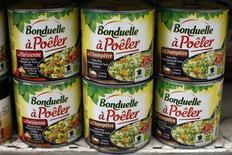 BONDUELLE (+2,79%) a fait état mercredi d'une croissance organique de 4,6% de son chiffre d'affaires au T3 à 479,8 millions d'euros. /Photo d'archives/REUTERS/Eric Gaillard