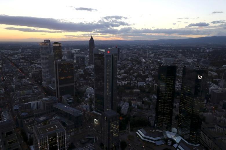 The Frankfurt skyline, Germany, September 29, 2016.  REUTERS/Kai Pfaffenbach/File Photo - RTX2SAIM