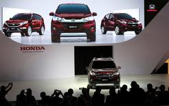 "Honda Motor Co Ltd  presents their new SUV model ""WRV"" during the Sao Paulo International Motor Show in Sao Paulo, Brazil, November 8, 2016.  REUTERS/Paulo Whitaker"