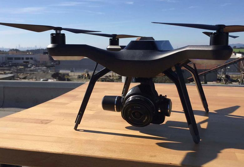 Drone company 3D Robotics displays its new commercial drone equipped with high-tech cameras and imaging software to a group of journalists at its headquarters in Berkeley, California, U.S., November 9, 2016. Picture taken November 9, 2016. To match Analysis USA-DRONES/CONSUMER     REUTERS/Heather Somerville