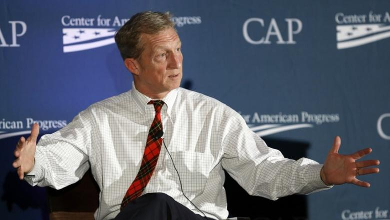 Investor, philanthropist and environmentalist Tom Steyer speaks at the Center for American Progress' 2014 Making Progress Policy Conference in Washington November 19, 2014. REUTERS/Gary Cameron