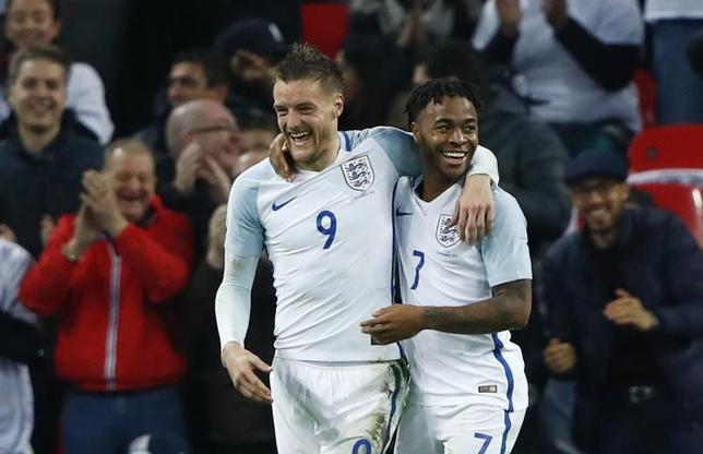 11月17日、サッカーのイングランド・プレミアリーグ、レスターのクラウディオ・ラニエリ監督は、ジェイミー・バーディー(写真)が昨季の活躍を取り戻すことに期待していると話した。ロンドンで15日撮影(2016年 ロイター)