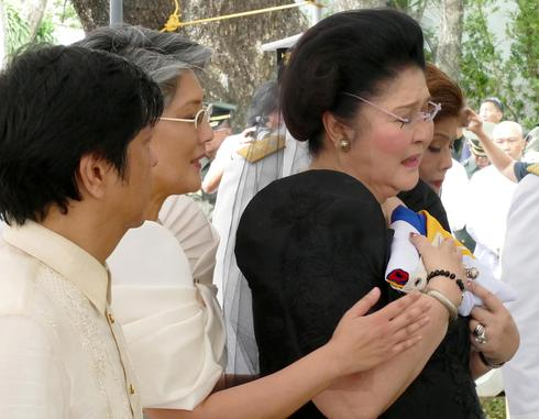 Burial of Ferdinand Marcos draws protests