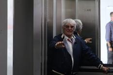 Formula One - F1 - Brazilian Grand Prix - Circuit of Interlagos, Sao Paulo, Brazil - 13/11/2016 - Bernie Ecclestone, Chief Executive of the Formula One Group, rides in an elevator during the race. REUTERS/Nacho Doce