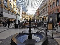 "Shoppers stroll ""Europa Blvd."" at the 5.3 million square foot (492,000 square metre) West Edmonton Mall in Edmonton, Alberta February 26, 2015.  REUTERS/Dan Riedlhuber"