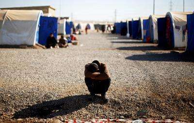 Fleeing Islamic State in Mosul
