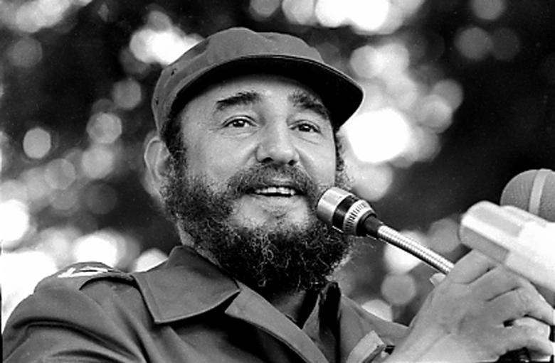 Fidel Castro speaks during a visit to Luanda, Angola in March, 1984. REUTERS/Prensa Latina