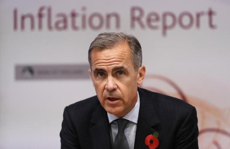 Mark Carney, Governor of the Bank of England speaks during the quarterly Inflation Report press conference at The Bank of England in London, Britain November 3, 2016. REUTERS/Kirsty Wigglesworth/Pool