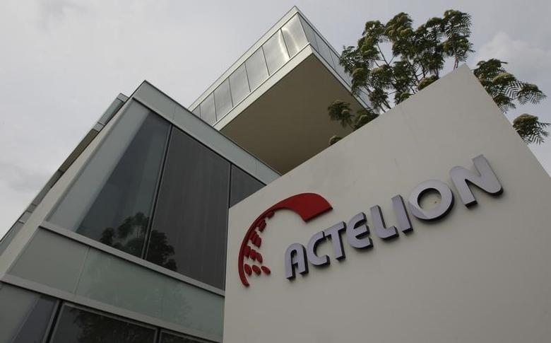 A general view shows Swiss biotech group Actelion Headquarters in Allschwil near Basel, April 23, 2011.The Swiss biotech group faces a tougher battle at its annual general meeting on Thursday, May 5, 2011, after a U.S. court awarded Asahi Kasei Pharma Corporation up to $547 million over a licensing and development dispute with an Actelion unit. Picture taken April 23, 2011.  REUTERS/Christian Hartmann (SWITZERLAND  - Tags: BUSINESS HEALTH)