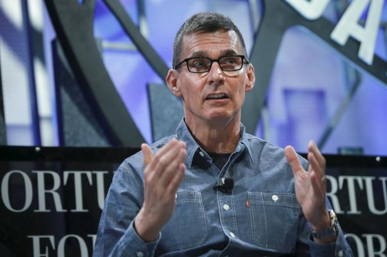 Chip Bergh, President and CEO of Levi Strauss, participates in a panel discussion at the 2015 Fortune Global Forum in San Francisco, California November 3, 2015. REUTERS/Elijah Nouvelage