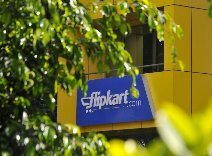 The logo of India's largest online marketplace Flipkart is seen on a building in Bengaluru, India, April 22, 2015. REUTERS/Abhishek N. Chinnappa/File Photo