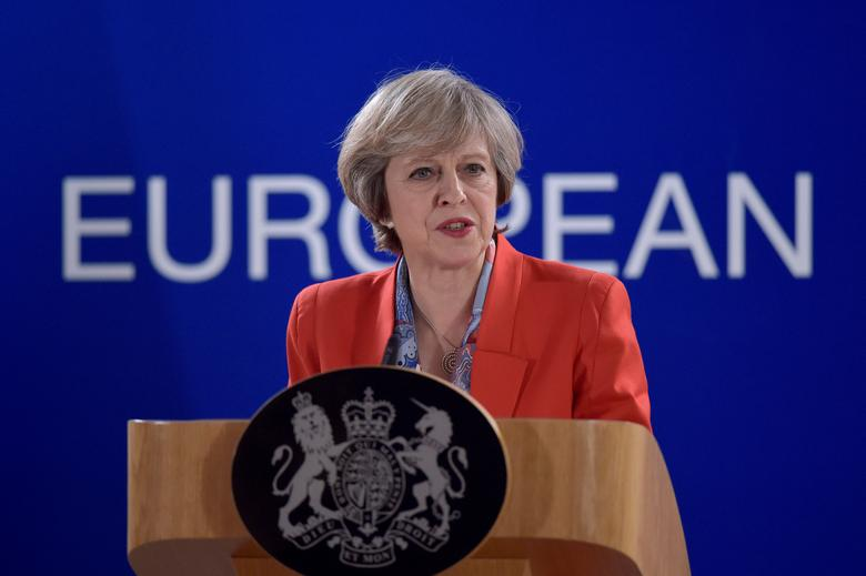 Britain's Prime Minister Theresa May holds a news conference after the EU summit in Brussels, Belgium October 21, 2016. REUTERS/Eric Vidal/File Photo